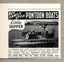 1960 Print Ad Vio Holda Little Skipper Pontoon Boats Topeka,KS