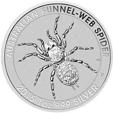 2015 Silver Australian Funnel-Web Spider Coin - 20 oz Total .999 (BU, Lot of 20)