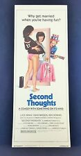 Original 1983 SECOND THOUGHTS Movie Poster 14 x 36 ** HOT CHICK **