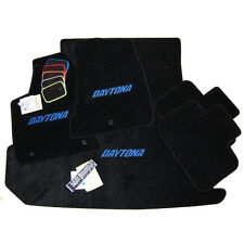2013 Dodge Charger DAYTONA Trunk Mat & Floor Mats with Daytona Blue Logo