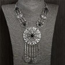 "Bohemian Ethnic Tibetan Silver Coin Good Fortune ""Luck"" Chain Necklace"