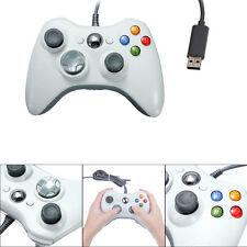 BLANC Filaire USB Jeux Pad Contrôleur Manette Pr MICROSOFT Xbox 360 PC Win 7 XP