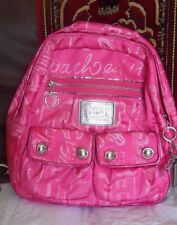 COACH Poppy StoryPatch BackPack Purse Handbad RARE