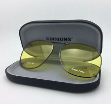 COCOONS Lemon Yellow Sunglasses/Eyeglasses Over Rx Clip-on SQR 3-57 Gunmetal
