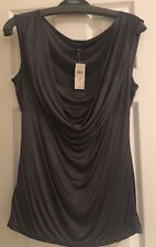 $45 New Women's Ann Taylor Gray Rayon Blouse Dressy Party Size Small Sleeveless