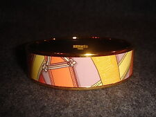 Hermes COACHING Printed Enamel Bangle/Bracelet