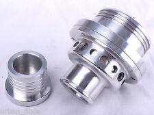 Turbo válvula de descarga de 33 mm de aluminio de aleación de plata Kit de montaje Blow Off bovinos; Tapón