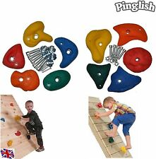 Climbing Wall Holds Set of 10 Bolt On 80mm Medium Climbing Stones