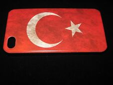 Turkey Cover Case for iPhone 4 4s Turkey Flag Vintage Look on Black Case