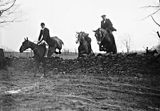 "1921 Photo, Fox Hunt, Hunting, Horse, Equestrian, 18""x13"" print, old Times, NICE"