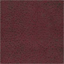"*NEW* FAUX LEATHER NUBUCK WARM BURGUNDY FABRIC SWATCH  12"" X 6"""