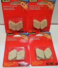 """(96) 3M Scotch 1/2"""" self-stick FLOOR CARE PADS protect floors countertops furnit"""
