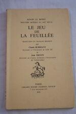 LE JEU DE LA FEUILLEE,THEATRE,ADAM LE BOSSU,BURIDANT TROTIN,CHAMPION-1976