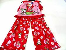 Strawberry Shortcake Girls 2PC Pajama Set With Built In Skirt US Size 6x NWT