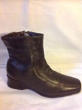 F.A.X Brown Ankle Leather Boots Size 6