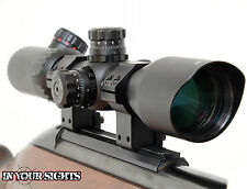 3-12x42 Riflescope Red/Green Illuminated Reticle + Mounts. Shockproof scope