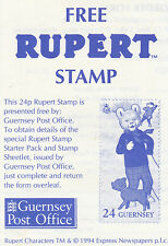 Guernsey 1993 Promotion Pack from Guernsey Post Office SG 605 (MNH)