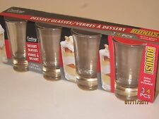 3 Dessert Glasses - 1.5 oz Shot Glasses, Shooters, Heavy Glassware, Bar, Kitchen