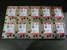 """Lot of 10 - 4TB Western Digital WD40EFRX Internal 3.5"""" NAS HD's 4.0TB"""