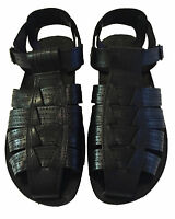 Men Leather Fisherman Sandals Black Strap Shoes Closed Toe Sandal Size 6-12 New