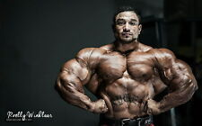 "083 Gym Bodybuilder Model - Roelly Winklaar 22""x14"" Poster"