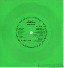 "GILLAN   DEEP PURPLE   Rare 80's UK Only 7"" OOP Green Flexi Single ""Purple Sky"""