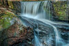 Framed Print - Small Waterfall over Iron Filled Rock (Picture Poster Walking Art