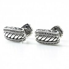 Scott Kay Rope Engraved Designer Cufflinks GC2394SPS