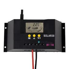 LCD 30A 12V&24V Solar Panel Controller Regulator Charge Battery Safe Protection
