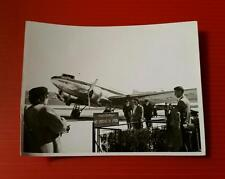 "VINTAGE BLACK & WHITE 1930-40's PHOTO ""TOURIST at ISTANBUL AIRPORT PLANE TURKEY"