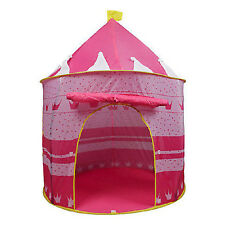 Portable Pink Pop Up Play Tent Kids Girl Princess Castle Fairy Outdoor House New