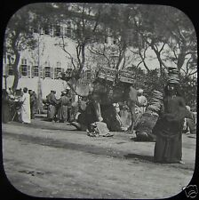 Glass Magic Lantern Slide ARAB WOMEN CARRYING BREAD C1900 PHOTO EGYPT ?