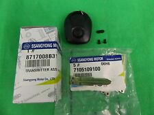 GENUINE SSANGYONG ACTYON SPORTS UTE 2.0L TURBO DIESEL TRANSMITTER KEY ASSY SET