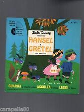 WALT DISNEY PRESENTA HANSEL E GRETEL libro + vinile