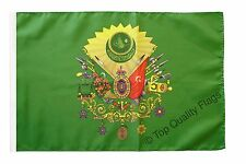"""Ottoman Empire Coat of Arms Banner 30x45cm – 18""""x12"""" Small Flag"""