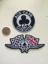 Patch toppa aufnaher Écusson embroidered Ace cafe London X2 thermocollant