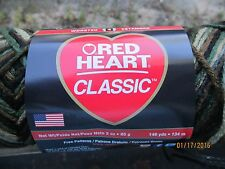 Red Heart Classic Variegated CAMOUFLAGE Multi 3 oz 100% Acrylic Worsted Wt #4