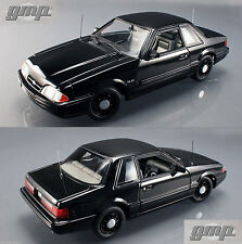 1992 FORD MUSTANG 5.0 FBI PURSUIT GMP 1:18 DIECAST CAR SSP ACME BLACK POLICE