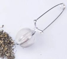 New Stainless Steel Spoon Tea Leaves Herb Mesh Ball Infuser Filter Squeeze