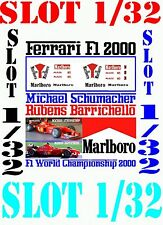 ANEXO DECAL SLOT 1/32 FERRARI F1 2000 MICHAEL SCHUMACHER – RUBENS BARRICHEL (01)
