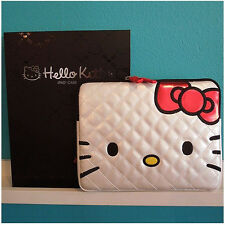 Hello Kitty White Quilted Ipad Case : White