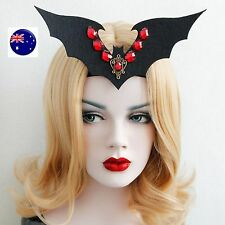 Women Lady Bat Devil Gothic Halloween Vampire Queen Party Hair Headband Prop