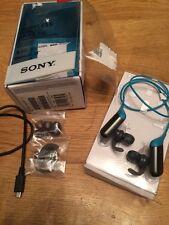 Auriculares deportivos inalámbricos Bluetooth Sony MDR-AS600bt RRP £ 70 Azul Nuevo Sellado