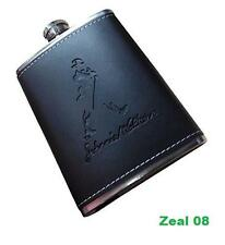 Johnnie Walker design Stainless Steel Leather Hip Flask Wine Whiskey Holder PD14