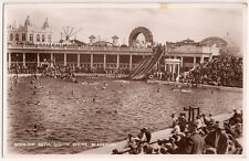 Blackpool,South Shore,Open-Air Bath,England Vintage B&W Real Postcard