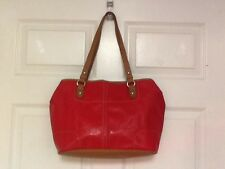 Nine West ladies tote with tablet pocket red with multicolored interior  H17