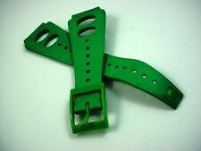 rk Kelly Green Rubber Vintage Mens Watch Band 20mm Water Proof New Old Stock