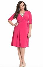 NEW KIYONNA PINK ESSENTIAL WRAP DRESS SIZE 2X LANE BRYANT