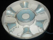 VINTAGE DEMITASSE COFFEE CUPS & SAUCERS 12 PIECES W/ BOX A.I. ARAMCO IMPORTS