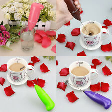 Popular Kitchen Electric Handle Coffee Milk Egg Beater Whisk Frother Tool FO